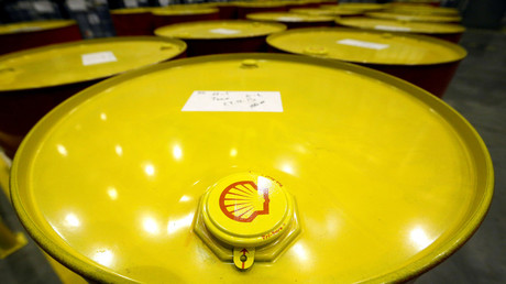 Filled oil drums are seen at Royal Dutch Shell Plc's lubricants blending plant in the town of Torzhok, north-west of Tver. © Sergei Karpukhin