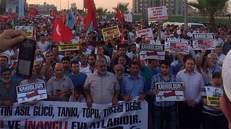Anti-US rally staged at NATO Incirlik air base in Turkey (VIDEO, PHOTOS)