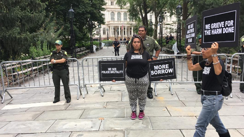 #ShutDownCityHallNYC: Protesters seek to oust NYPD commissioner over police brutality