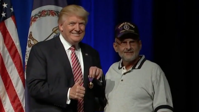 'Does he know what it's for?' Internet agog as Trump gets Purple Heart