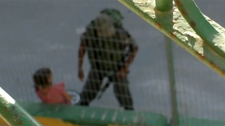 Armed Israeli Border Police bully 8-yo Palestinian girl, confiscate bike (VIDEO)