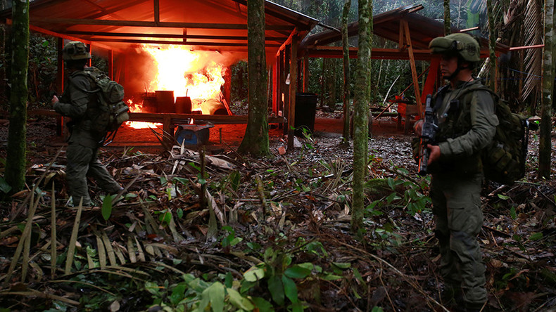 Colombia raids over 100 cocaine labs in 5 days (VIDEO)