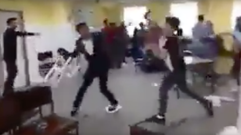 Migrants beat each other with chairs in German refugee center brawl (VIDEO)