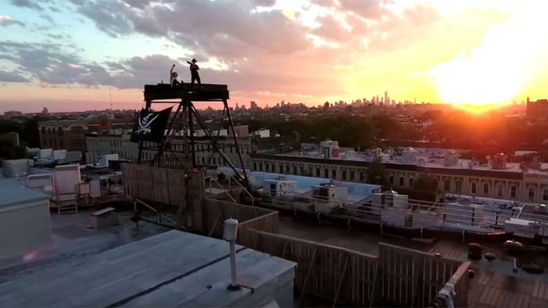 Drone pilots risk skirmish with NY law in taking viewers from subway depths to atop city skyline