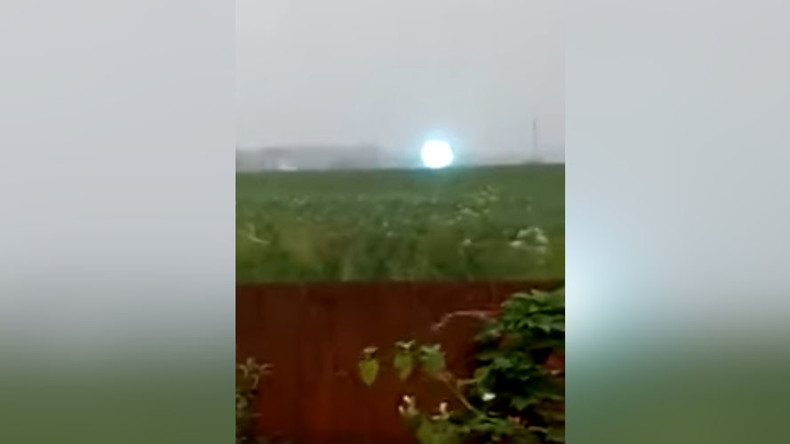 Great balls of fire! Rare lightning caught on camera in Siberia (VIDEO)