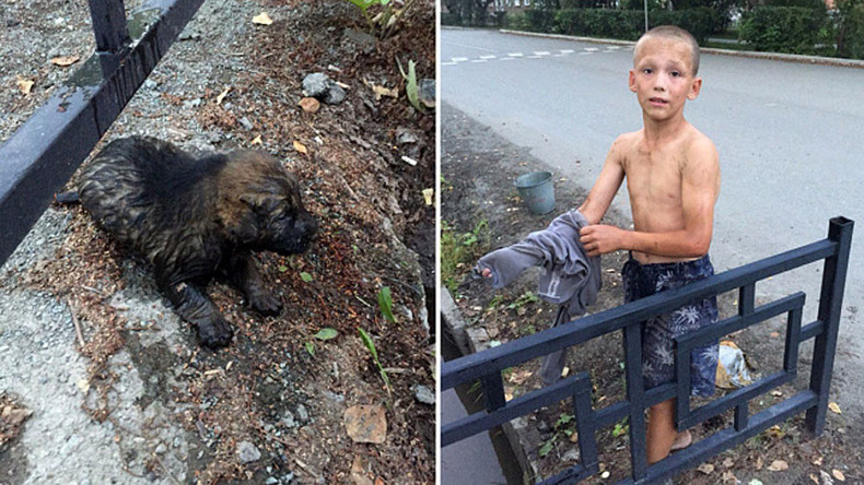 12-yo boy saves stray puppies from death in drain, praised as only 'real man' in town