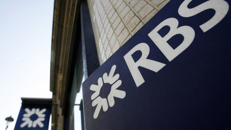 RBS reports huge loss sending bank's shares tumbling