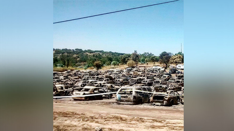 Carmageddon: 422 vehicles destroyed by inferno at Portuguese music festival (PHOTOS, VIDEO)