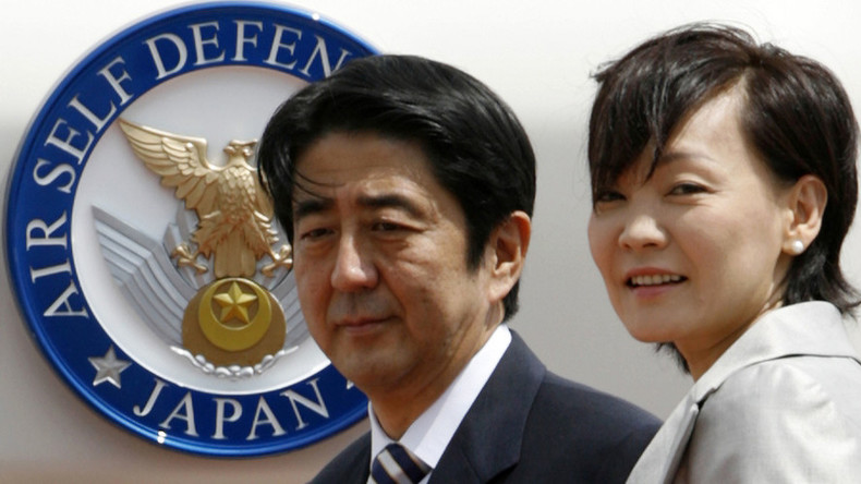 Defiant wife of Japanese PM Abe visits US Okinawa base construction protest