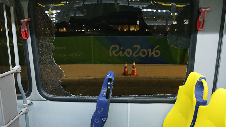 'We were shot at': Olympic media bus reportedly fired on in Rio, 2 people injured