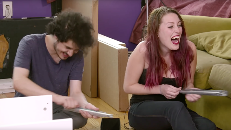 Hikea: Couple take acid, try to assemble flatpack furniture (TRIPPY VIDEO)