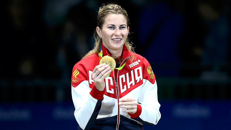 Russian fencer takes gold in women's individual foil