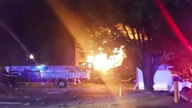 Dozens injured as blaze tears through apartment building in Washington DC suburb (PHOTOS, VIDEOS)