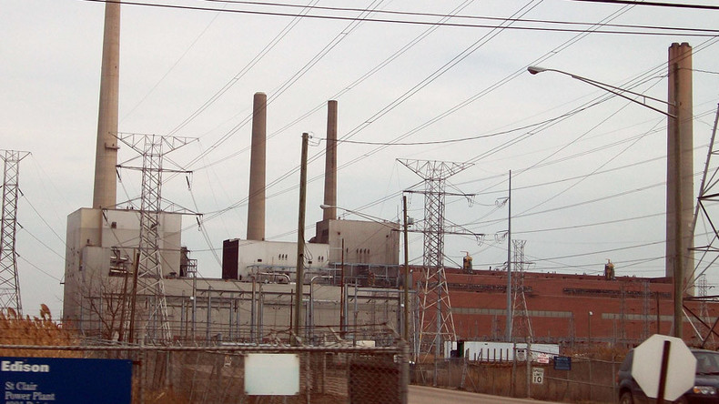 Massive fire breaks out at Michigan's St Clair Power Plant