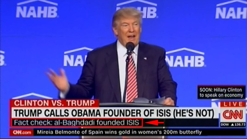 CNN called out for (incorrect) onscreen 'fact check' of Trump's claim Obama founded ISIS