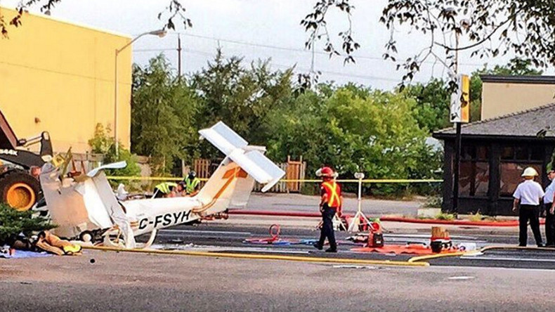 Stolen plane crashes into street in Canada, pilot dies (PHOTOS, VIDEOS)