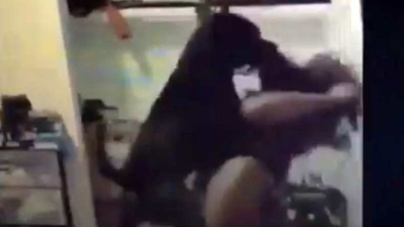 Woman finds out the hard way her dog doesn't like twerking (VIDEO)