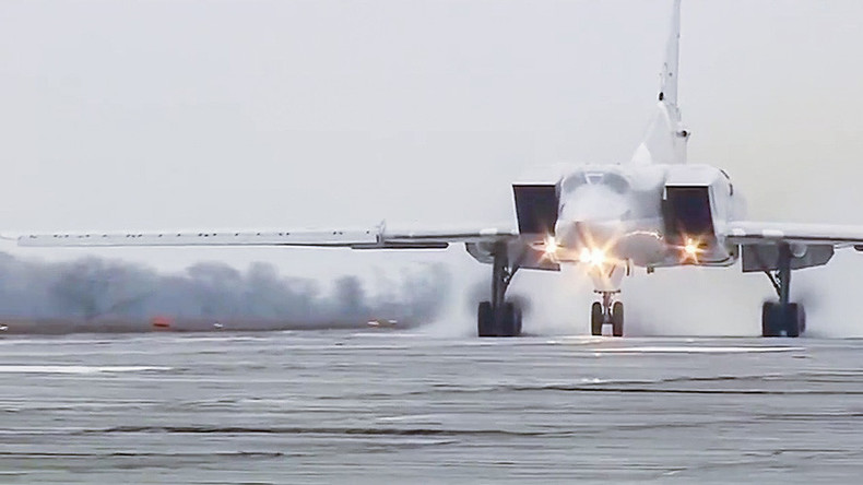 Russian Tu-22M3 'Backfire' long-range bombers strike ISIS from Iran's Hamadan airfield (VIDEO)