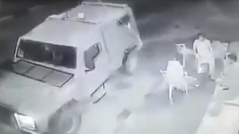 Smoke 'em out: Israeli soldiers toss grenade at Palestinians in unprovoked attack (VIDEO)