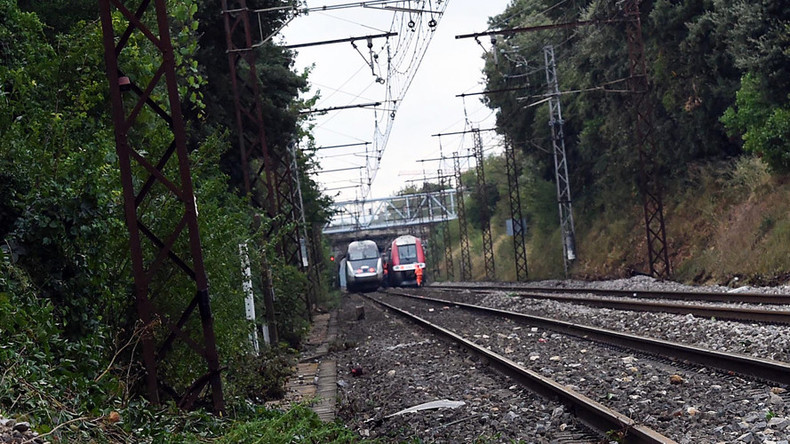 Train crashes in southern France, about 60 injured - local media