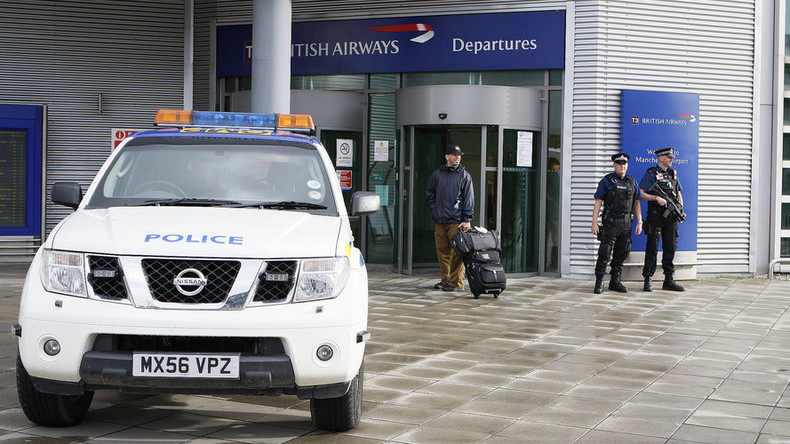 Manchester airport evacuated after suspicious package found in departure area
