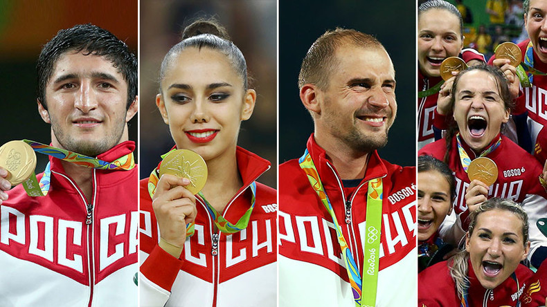 Team Russia snatches 4 gold medals in a row at Rio Olympics
