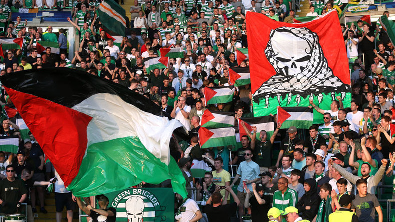 Celtic fans #MatchtheFineforPalestine, raise £110k following flag protest