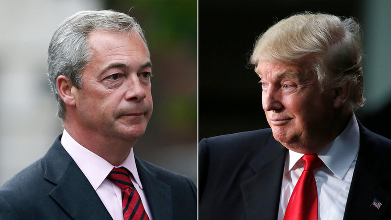 Meeting of minds? Nigel Farage to share platform with Donald Trump