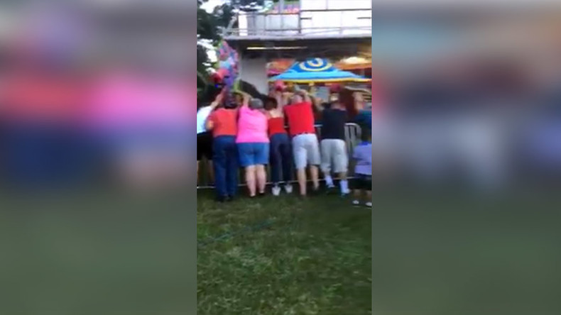 Collapse on the 'Orient Express': Kids' ride tips over at Georgia country fair (VIDEO)