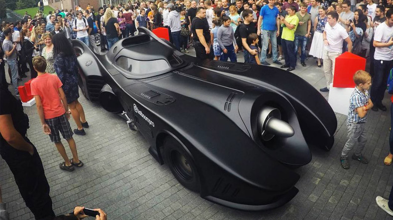 Batman in Russia? This epic Batmobile just turned up in Moscow (VIDEO, PHOTOS)
