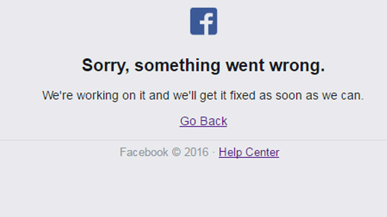 'Sorry': Facebook went down, Friday briefly ruined