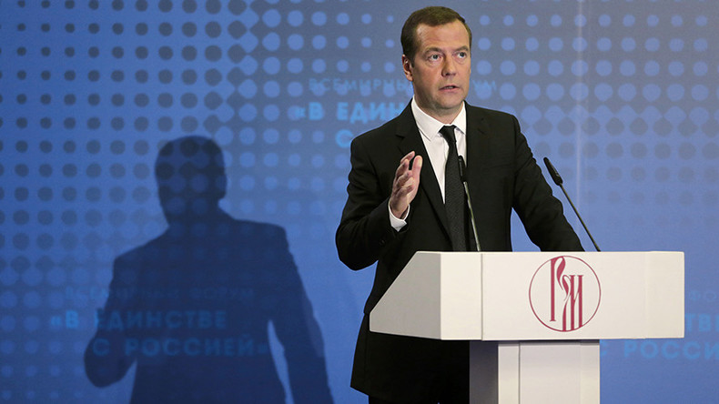 'Russia never leaves its compatriots behind the red line' – Medvedev