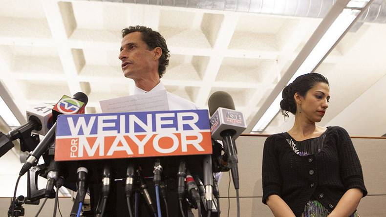 Weiner gets shafted: Clinton confidante Huma Abedin ditches sexting spouse