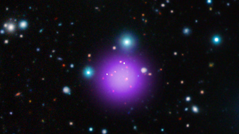 Most distant galaxy cluster ever recorded captured 11bn light years away