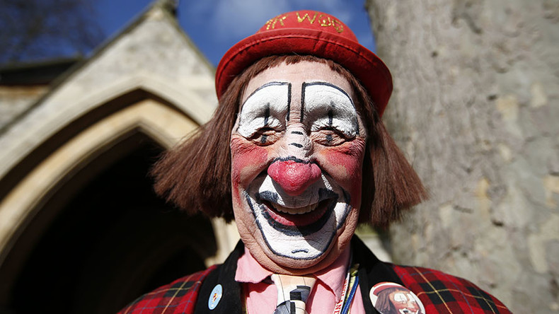 We all float down here: Clowns luring children into woods