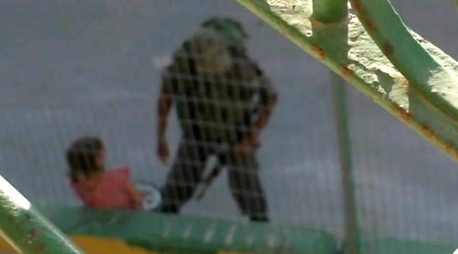 Armed Israeli Border Police bully 8-yo Palestinian girl, confiscate bike (VIDEO)