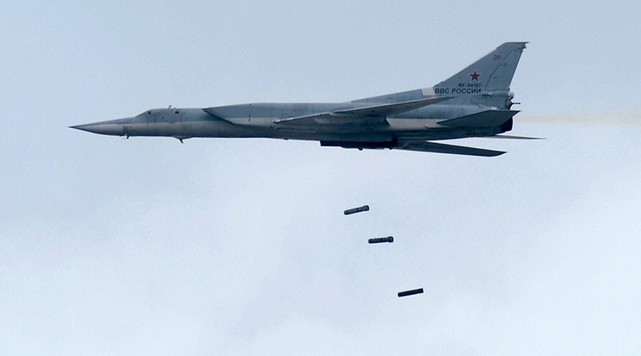 Russian long-range bombers destroy ISIS targets near Palmyra, Syria (VIDEO)