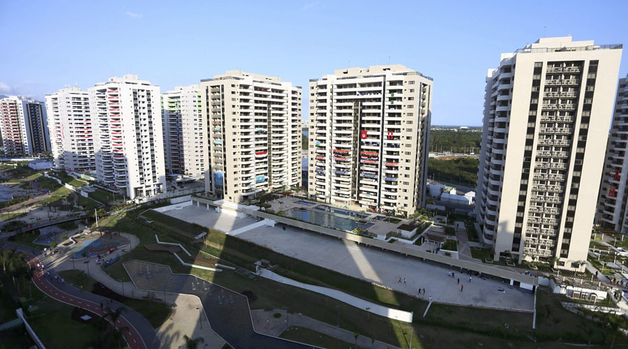 Russian flags torn down in Olympic village