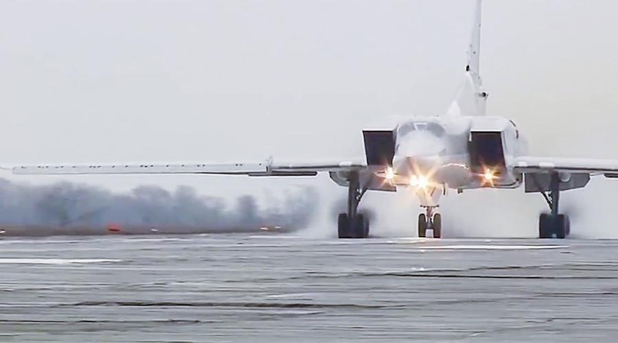 Russian Tu-22M3 'Backfire' long-range bombers strike ISIS from Iran's Hamadan airfield (VIDEO)