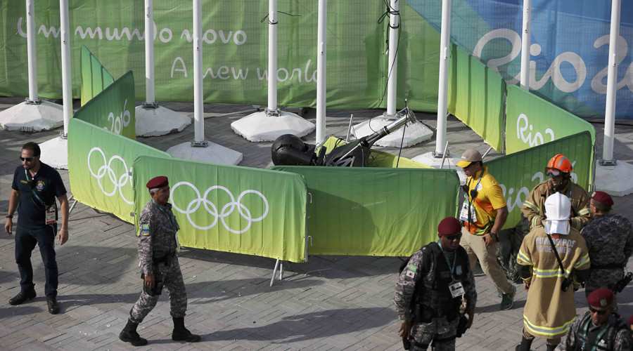 100kg 'spidercam' crashes into crowd in Rio Olympic Park, injures 7
