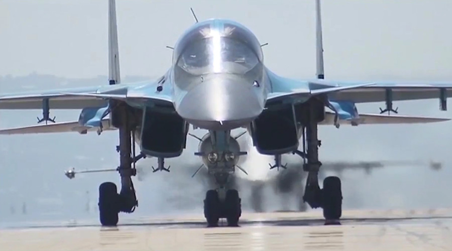 Russian Su-34 bombers attack & destroy over 100 ISIS terrorists from Iranian airfield (VIDEO)