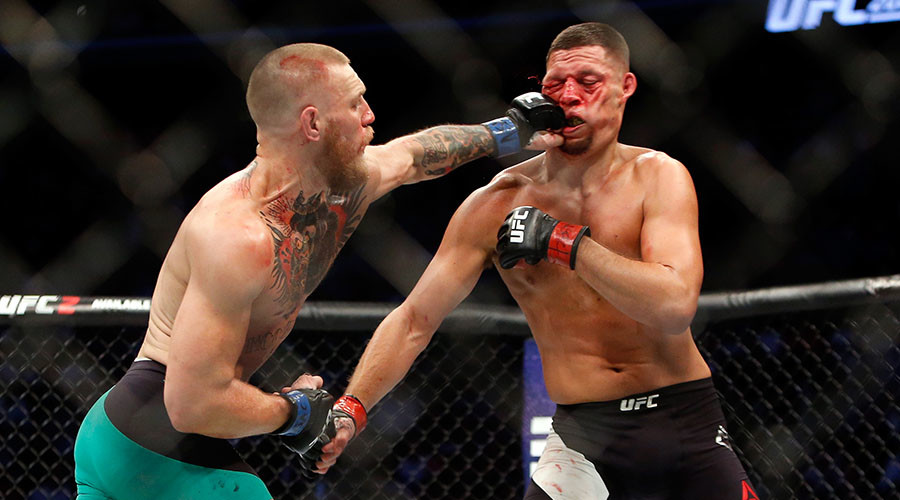 McGregor beats Nate Diaz on points at UFC 202