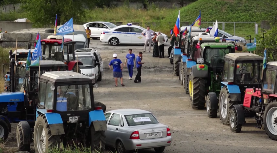 Prosecutors launch probe into claims by 'tractor rally' protesters in south Russia