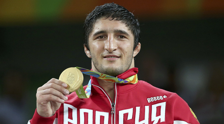Dagestan governor presents horse to 'Russian Tank' Olympic gold medalist