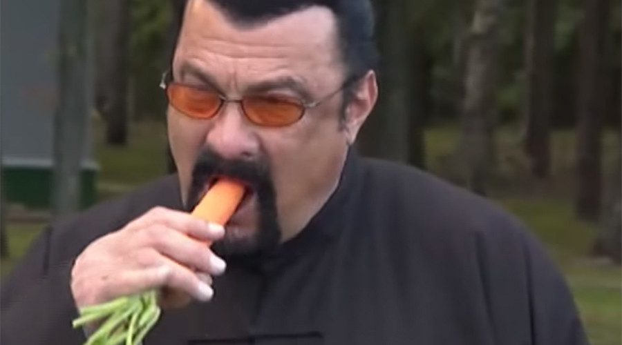 Steven Seagal visits Belarusian president, receives carrot & watermelons (VIDEO)