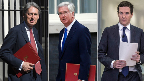 (L-R) Philip Hammond, Michael Fallon and George Osborne. © Reuters