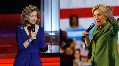 Debbie Wasserman Schultz (L) resigned as chair of the Democratic National Committee after the leak, while Democratic presidential candidate Hillary Clinton (R) accused Russia of hacking the DNC © Scott Audette