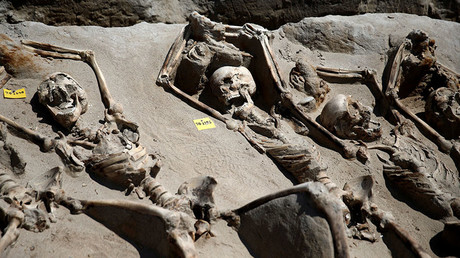 Ancient execution: 80 shackled skeletons found in Greek cemetery (PHOTOS)