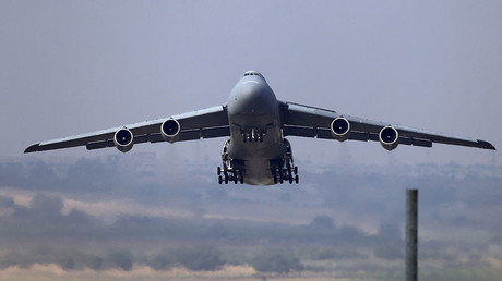 A U.S. Air Force C-5 Galaxy Outsize Cargo Transport Aircraft. ©Murad Sezer