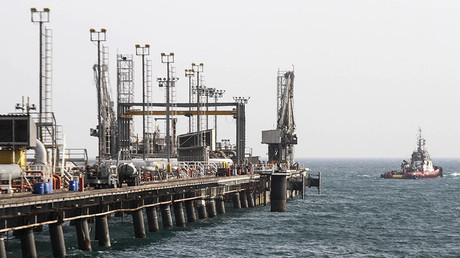 Oil facility in the Khark Island, on the shore of the Gulf. © AFP